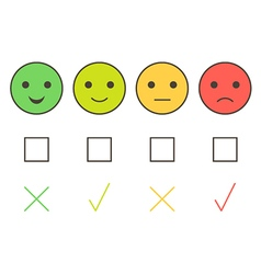 Customer service colorful smiley icons vector