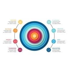 circles abstract pyramid infographic cycle vector image