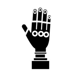 Hand with sport gloves icon vector