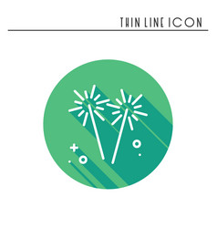 Sparkler bengal fire icon party celebration vector
