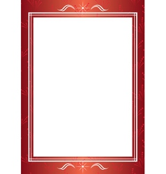 red decorative frame with white center vector image