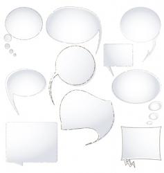 speech announcement bubbles vector image