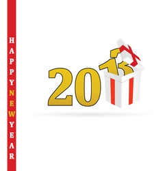 Gift box for 2013 vector