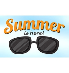Summer is here vector