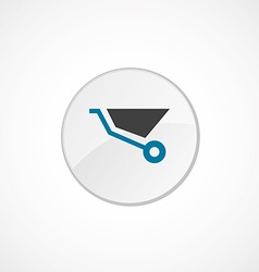 Wheelbarrow icon 2 colored vector