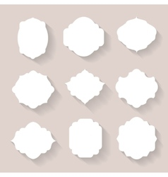 Set of white silhouette frames or vector