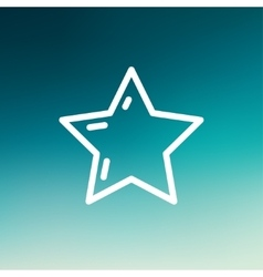 Star or best choice thin line icon vector
