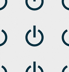 Power icon sign seamless pattern with geometric vector