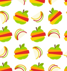 Various type of fruits slices vector