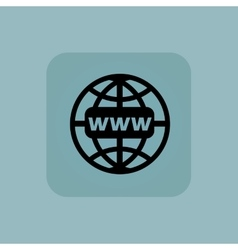 Pale blue global network icon vector