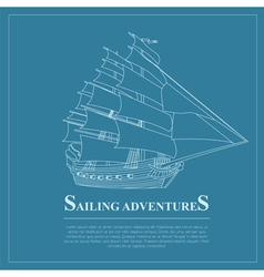 Set of sailing boat and nautical logos vector