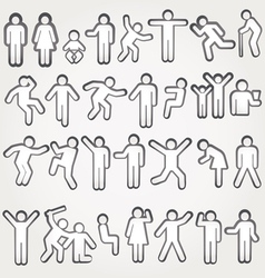 Pictograms of men and women vector