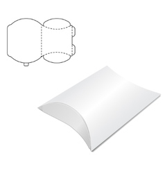 Pillow folding box a vector