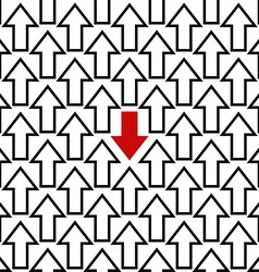 Anti trend arrow pattern vector
