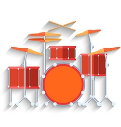 Drum kit icon flat design vector