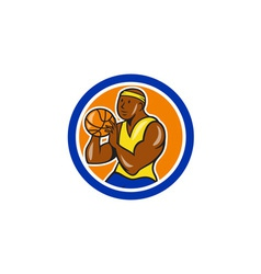 African-American Basketball Player Shooting vector image vector image