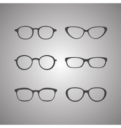 black glasses icons set vector image vector image