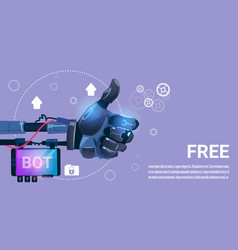 chat bot free robot virtual assistance of website vector image