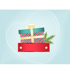 Colourful Christmas and New Years card vector image vector image