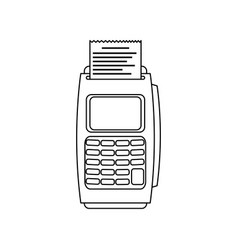 Dataphone transaction payment buying outline vector