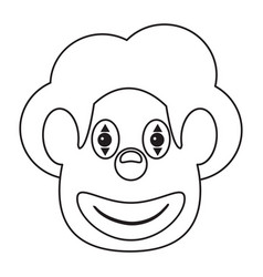 face clown april fool day thin line vector image vector image