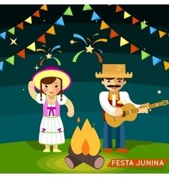 Festa junina st johns june festival vector