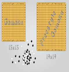 Gomoku and freestyle gomoku vector