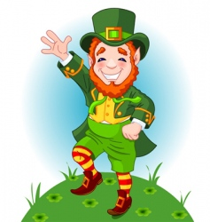 leprechaun illustration vector image