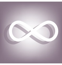 Limitless icon with shadow vector image vector image