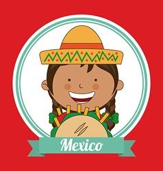 Mexican kid vector