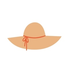 Panama hat vector image vector image