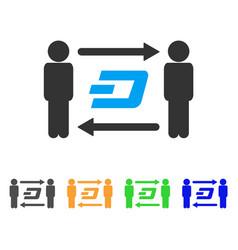 people exchange dash icon vector image vector image