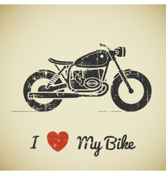 Retro motorcycle vector image