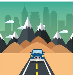 road trip design vector image