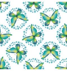 Seamless background butterflies vector image vector image