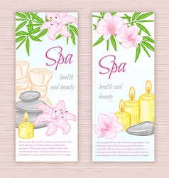 set of banners with hand drawn spa and massage vector image vector image