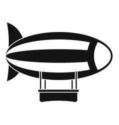 striped dirigible icon simple style vector image