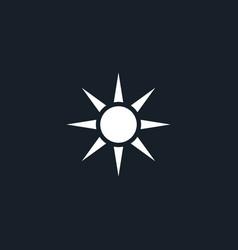 sun icon simple vector image