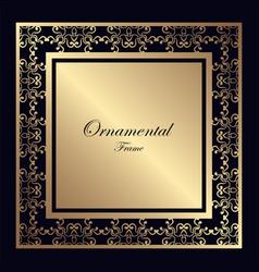Vintage ornamental frame vector