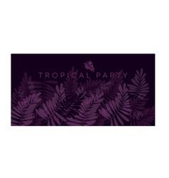 Violet purple tropical pattern vector