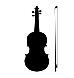 Violin the black color icon vector