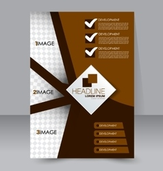 Abstract flyer design template vector