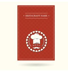 menu cover design vector image