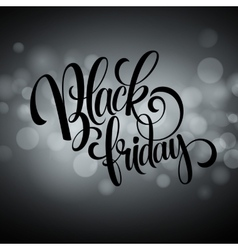 Black friday sale background lights bokeh vector