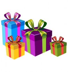 Colorful gift boxes vector