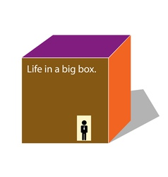 Life in a box vector