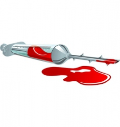 syringe with blood vector image