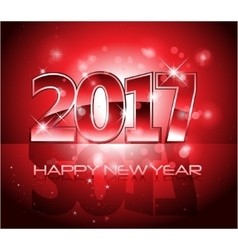 2017 happy new year background red letters vector
