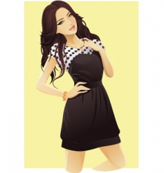 Attractive woman vector