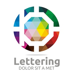Abstract logo lettering b rainbow alphabet design vector